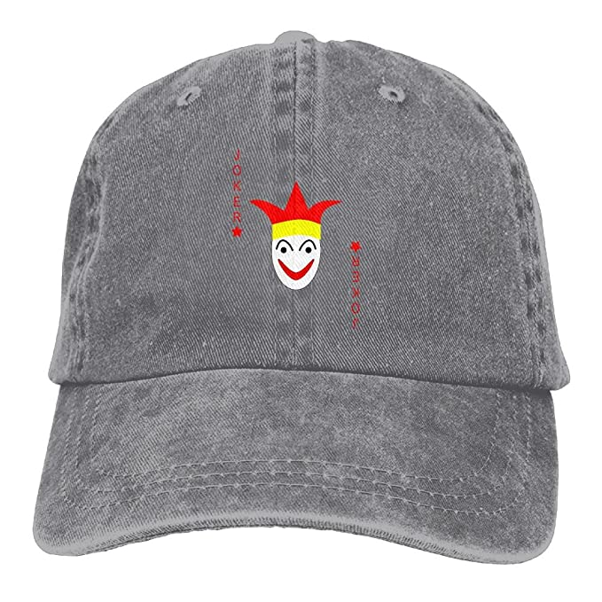 Arsmt Cards Joker Red svg Denim Hat Adjustable Female Snapback Baseball Hat