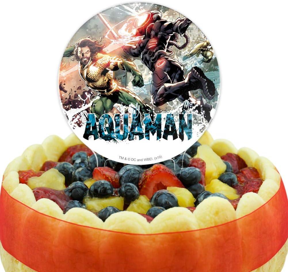 GRAPHICS /& MORE Acrylic Aquaman Movie Aquaman vs Black Manta Cake Topper Party Decoration for Wedding Anniversary Birthday Graduation