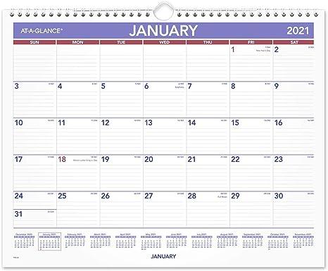 15 x 12 Medium Student Monthly Wirebound for School AY828 Academic Wall Calendar 2021-2022 AT-A-GLANCE Teacher