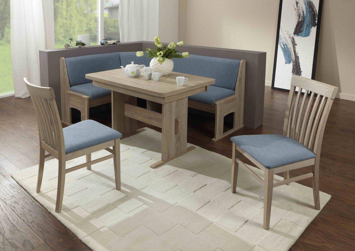 dreams4home eckbankgruppe 39 vita 39 essgruppe 167 x 128 x 87 cm tisch 2 st hle modern sonoma eiche. Black Bedroom Furniture Sets. Home Design Ideas