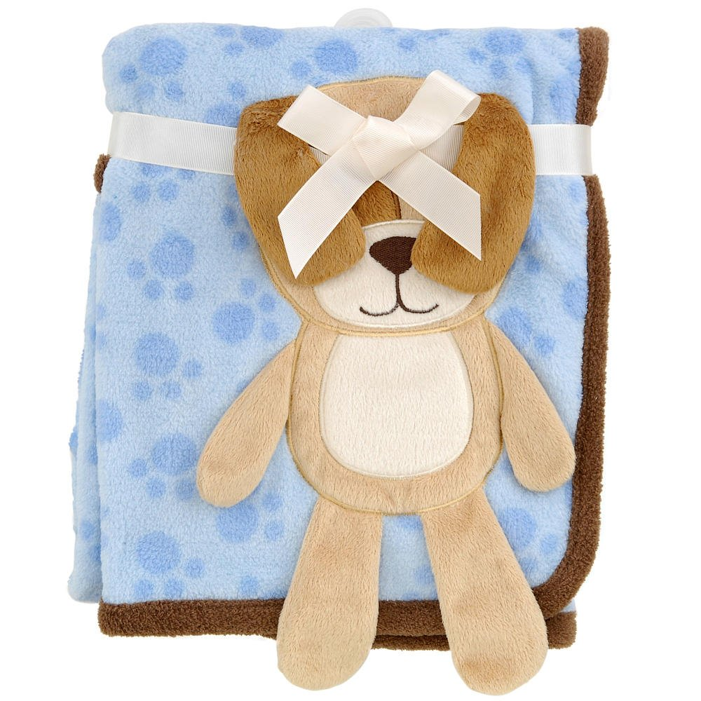 Babies R Us 3D Puppy Blanket - Blue - 30 x 40