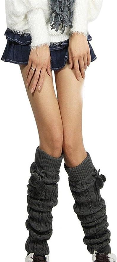 US Women Crochet Knitted Soft Elastic Boot Cover Long Leg Warmers Socks Leggings