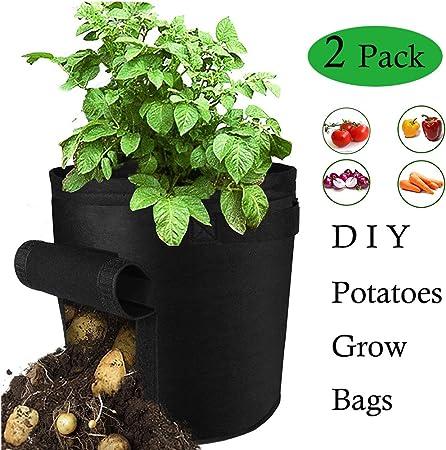 DIY Vegetable Flower Grow Bag Potato Tomato Sack Tub Garden Planting Container