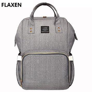 FLAXEN LAND Fashion Nappy Mummy Backpack Diaper Bag Baby Newborn Shoulder  Bag 1b6edc19dcd70