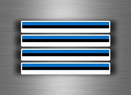Akachafactory 4 X Selbstklebend Sticker Auto Moto Stripes Flagge Tuning Estland Estnisch Auto
