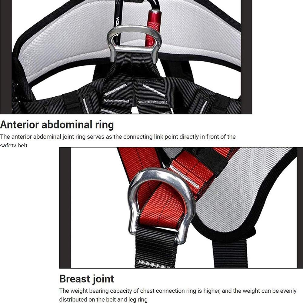 Yalztc-zyq16 Cinturón de seguridad for escalada - Bolsa de cintura ...
