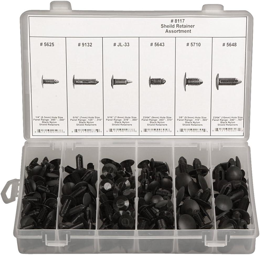 Disco Automotive 8117 Black Nylon Shield Retainer Assortment