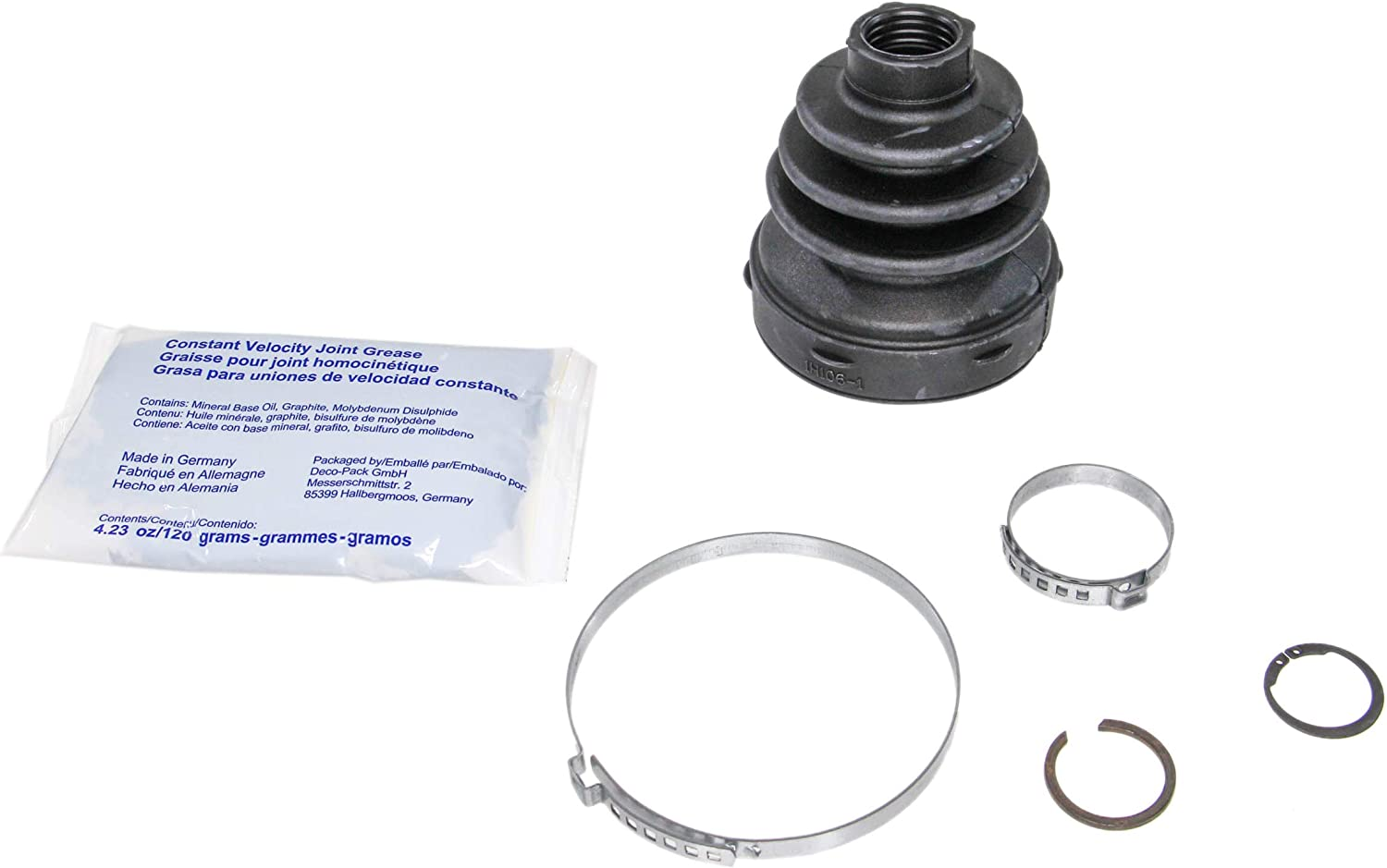 Universal CV Joint For Boot Kit Gaiter With Grease And Clamps Pack of 2