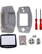 Timorn Full Parts Replacement Housing Shell Pack for Nintendo Game Boy Advance (Transparent blue)