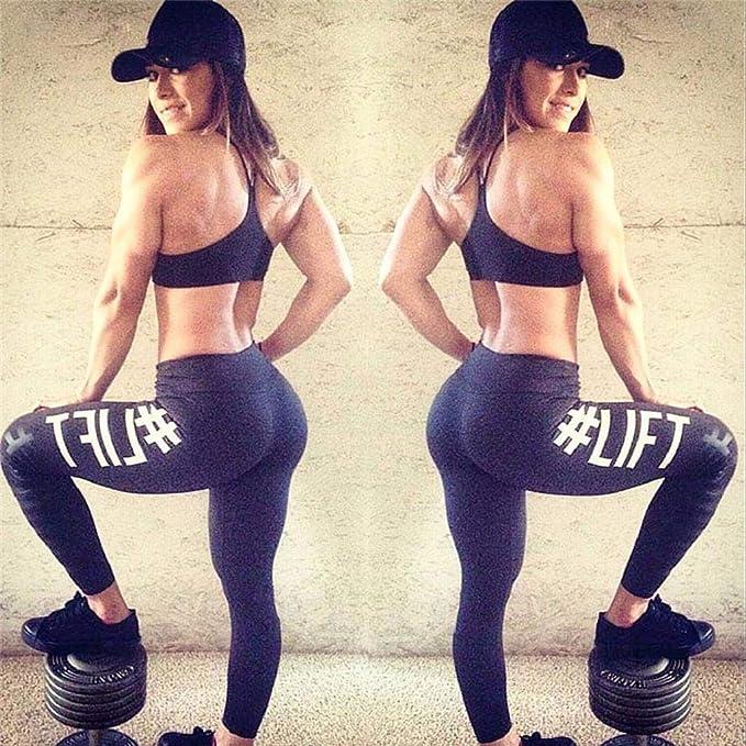 Amazon.com: SAKAMU- Womens Fashion Workout Leggings Fitness ...