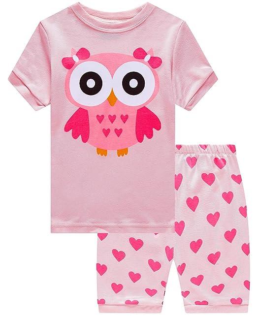 c7b82e0061 Dolphin&Fish Little Girls Cotton Short Pajamas Summer Kids Clothes Toddler  Pjs
