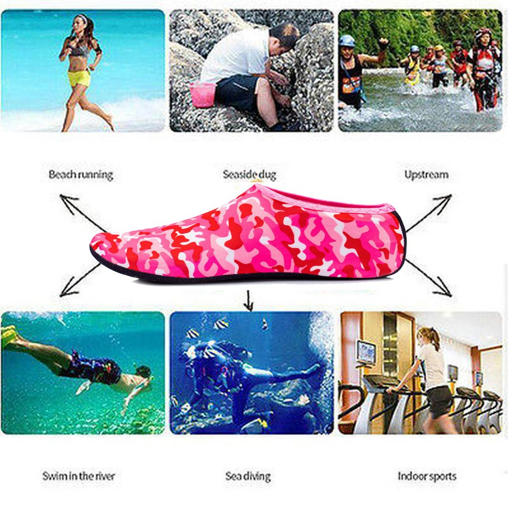 Non-Slip Slip-on for Scuba Diving Surfing Yoga UV Water Socks Beach Shoes for Women Protects Against Sand Cold//Hot Water Rocks//Pebbles