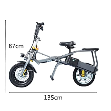SMLRO JX003 Plegable un Segunda Triciclo Eléctrico Bicicleta Scooter 14 Pulgadas 250 W 36 V 10.4