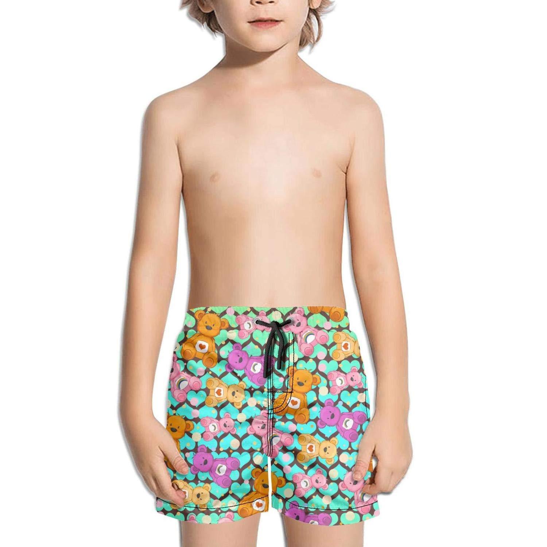 LKIMNJ Boys Boardshorts Indian Bear with Sunglasses Quick Dry Bathing Suits Beach Board Shorts
