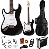 Lindo *Deluxe Pack* Black Left Handed ZST Series Electric Guitar and SA-15 15w Amp Pack *Includes an extra 11 Accessories*