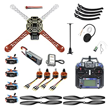 Qwinout DIY Drone Quadcopter 4-axle Aircraft Kit :450 Frame + PXI ...