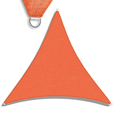 TANG Sunshades Depot 16 x16 x16 Sun Shade Sail 180 GSM Equilateral Triangle Permeable Canopy Orange CustomSize Available Patio Garden Preschool Kindergarten Playground Outdoor Facility Activities