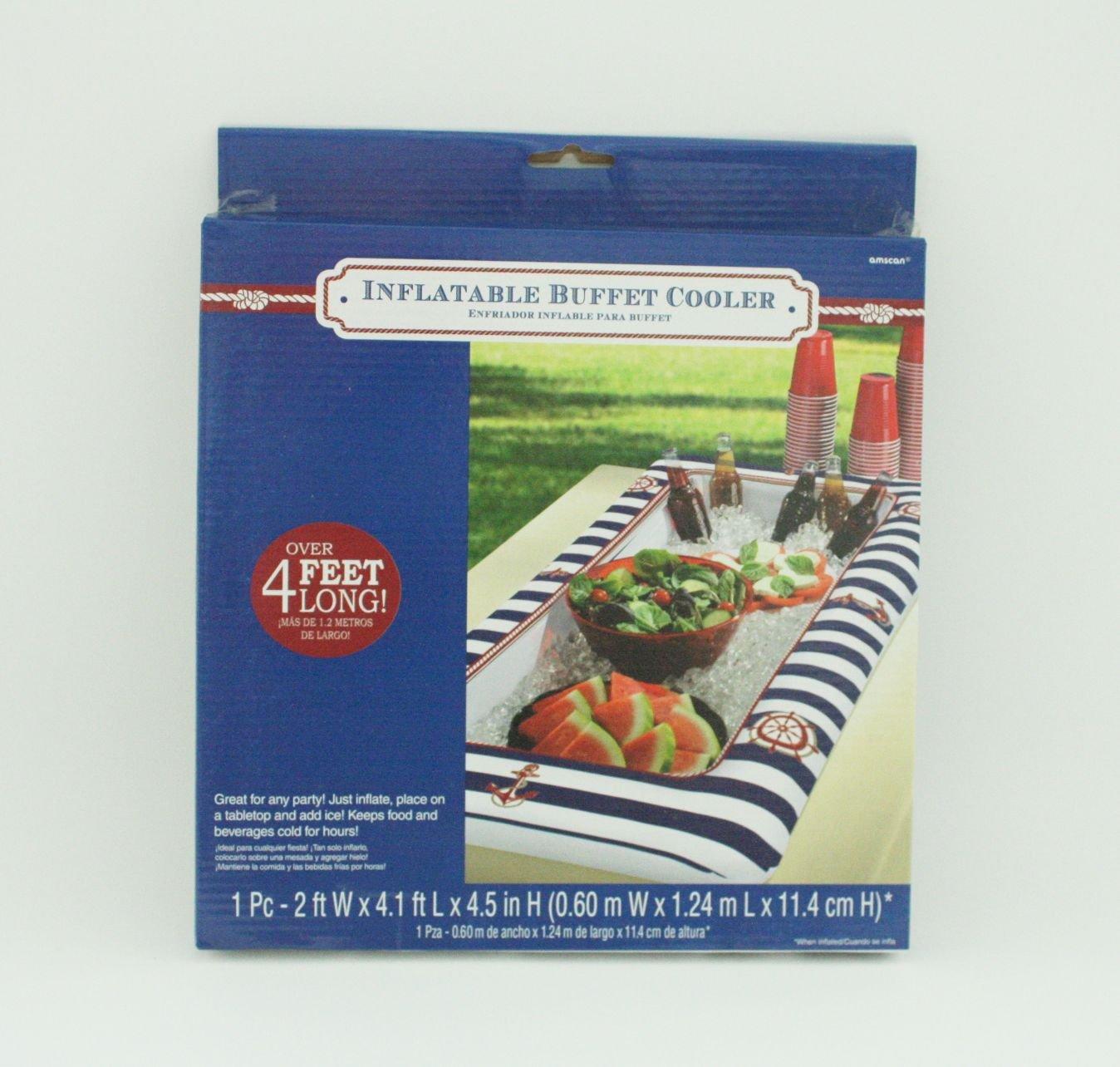 Mesa Buffet - Enfriador de Maritim - hinchable, 124 cm: Amazon.es ...