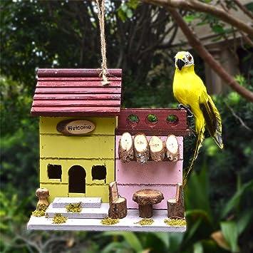 Figura Decorativa para jardín Nido De Pájaro De Madera Maciza Ecológica Original Jardín Jardín Césped Balcón Paisaje Decoración Decoración Artesanías Regalo M:25.8 * 17 * 24cm: Amazon.es: Bricolaje y herramientas