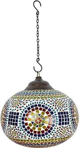 Lalhaveli Ethnic Handmade Glass Decorative Hanging Lamp Ceiling Lampshade