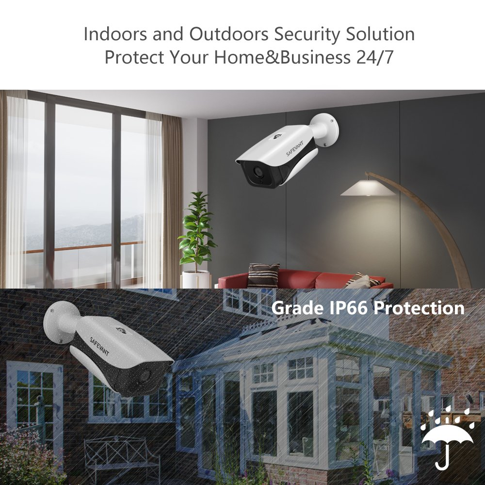 with 4pcs 1080p Indoor/&Outdoor Security Cameras with Night Vision,Plug/&Play,No Monthly Fee Safesky 857689 1080P Security Camera System,Safevant 4CH CCTV Camera Security System 2019 New NO Hard Drive
