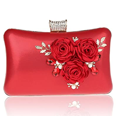 YYW Evening Bag - Cartera de mano para mujer, color azul, talla Talla Unica: Amazon.es: Zapatos y complementos