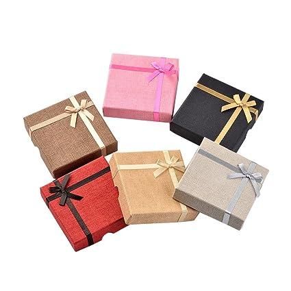 NBEADS Juego de 24 Cajas de cartón cuadradas para Pulsera, 3,6 x 3
