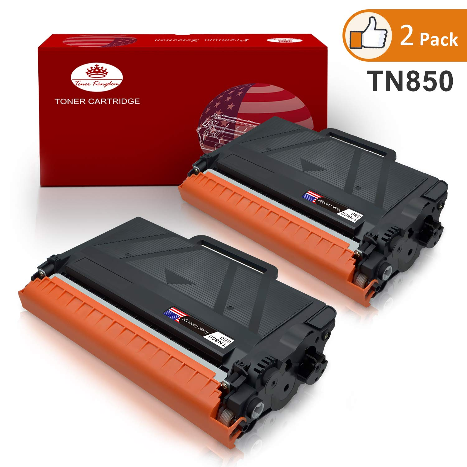 TN850 High Yield Toner Cartridge Toner Kingdom Replacement for Brother TN-850 TN820 Compatible with Brother HL-L5100DN HLL6200DW MFC L5850DW L6800DW Printer