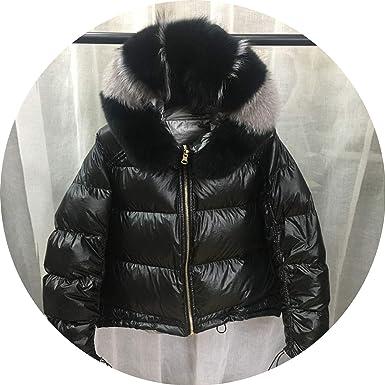 Amazon.com: Natural Fur 2018 - Chaqueta de invierno con ...