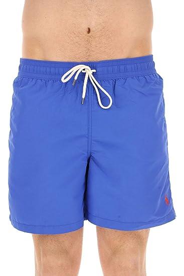 1dd72366033b3 Ralph Lauren Men's 710683997017 Blue Polyester Trunks: Amazon.co.uk:  Clothing
