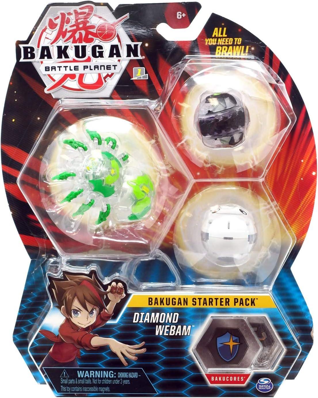 BAKUGAN Starter Pack 3 Unidades, Diamond Webam, Criaturas ...