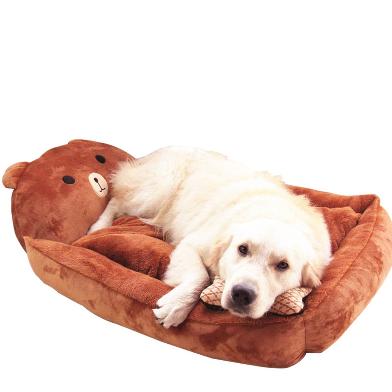 Forme de l'animal Chaud Kennel Chat Chien Maison Pet Lits Mats Teddy Canapés Maison des Animaux Nest, Rose Rouge, 70X55X15Cm Kidly