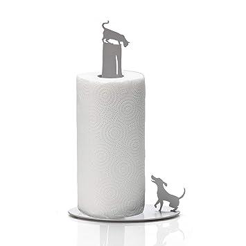 Artori Design Perro vs Gato | Portarrollo para rollo de cocina | Soporte de diseño para papel de cocina | Regalo perfecto para cocinas | Soporte para papel ...