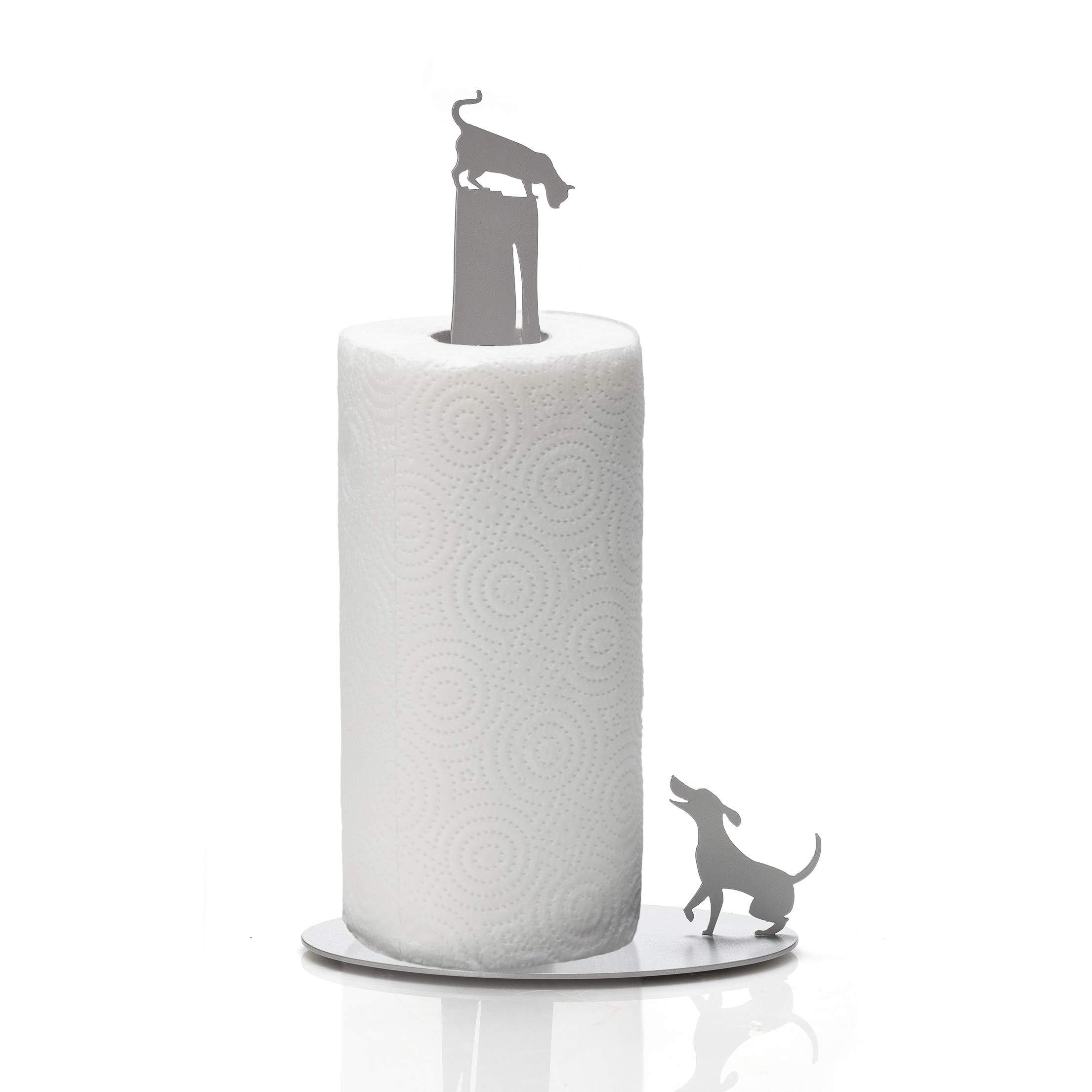 Artori Design Dog vs Cat | Paper Towel Stand Holder | Cute Design Rack