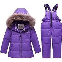 SANMIO - Traje de Nieve de Dos Piezas para niños y niñas, Chamarra de Invierno con Capucha y Pantalones de esquí para…