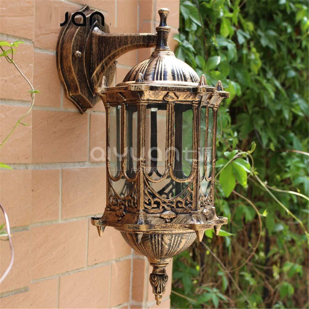 Lampade da parete per esterni da giardino in stile retrò con luci esterne da giardino, bronzo 49  25cm Base 18.5  10.5cm XCBD