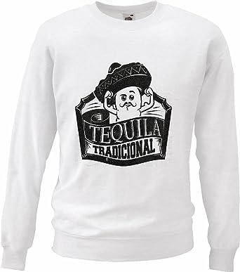 Sudaderas Suéter Tequila Mexico Tradicional Mexicana Sombrero Mexicano del Alcohol SANGRÍA DE New York América California EE.UU. Ruta 66 Camisa Motorista de la Motocicleta de New York NY Libertad DE: Amazon.es: Ropa