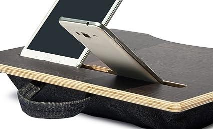 Mymesita MyPad, Denim, Mesa portátil, Mesa para Ordenador, Soporte Ordenador portátil,
