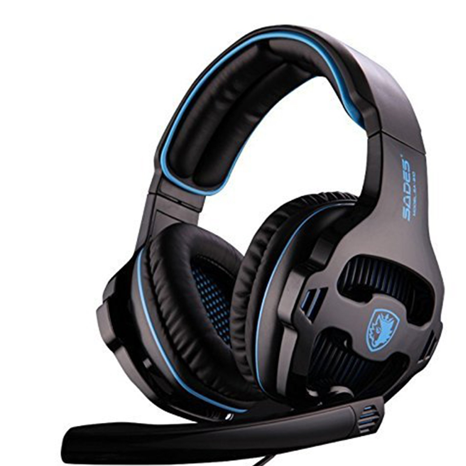 PS4 PC New Xbox One Gaming Headset , SADES 810 Gaming Headphone Stereo Sound 3.5mm Jack Over-ear Headphone with Microphone Volume Control