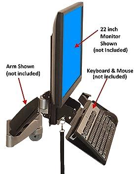 SDS iMOUNT 4.0 teclado y monitor soporte de pared w/inclinación, plegable ajustable bandeja
