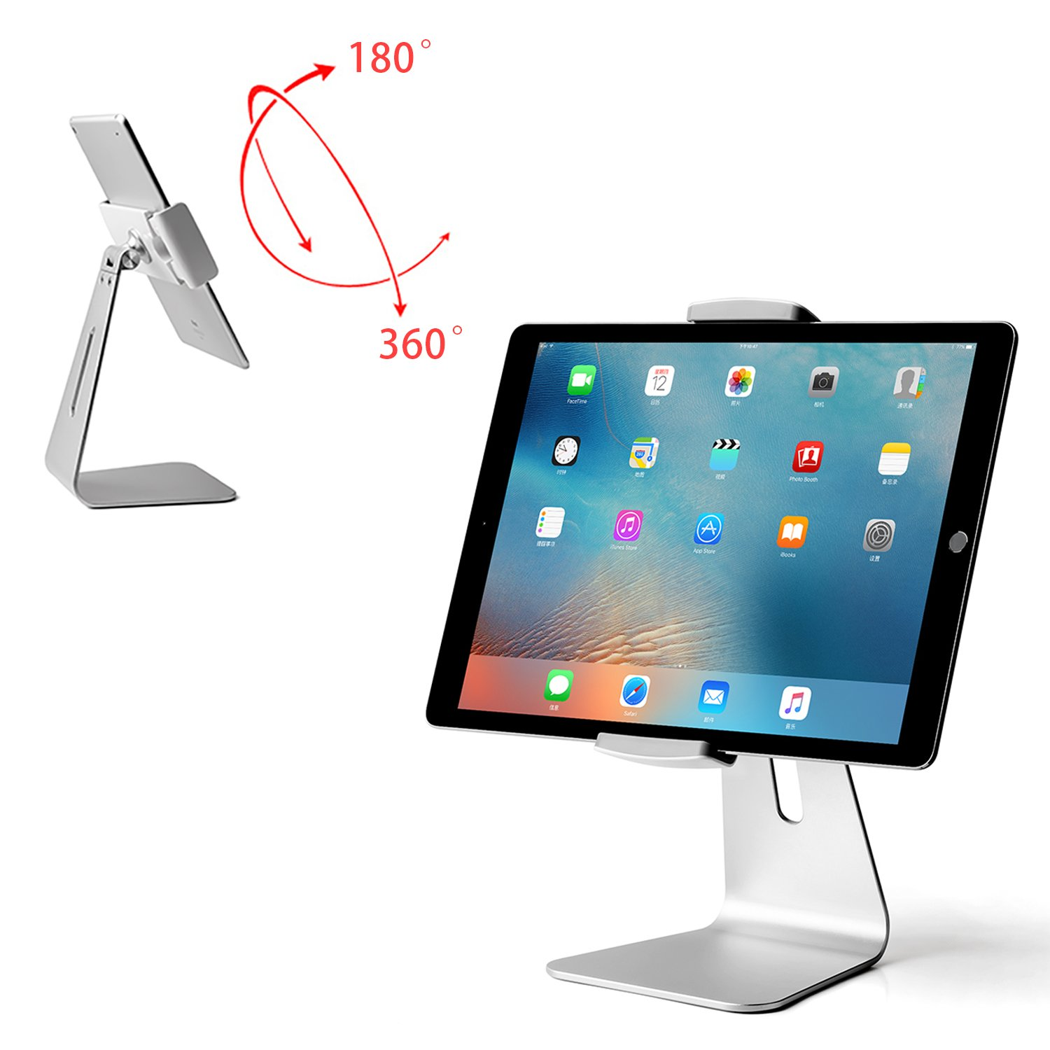 Viozon ipad Pro Stand, Tablet Stands 360° Rotatable Aluminum Alloy Desktop Mount Stand for Ipad Pro Ipad Air Ipad Mini Surface and Surface Pro by Viozon (Image #1)
