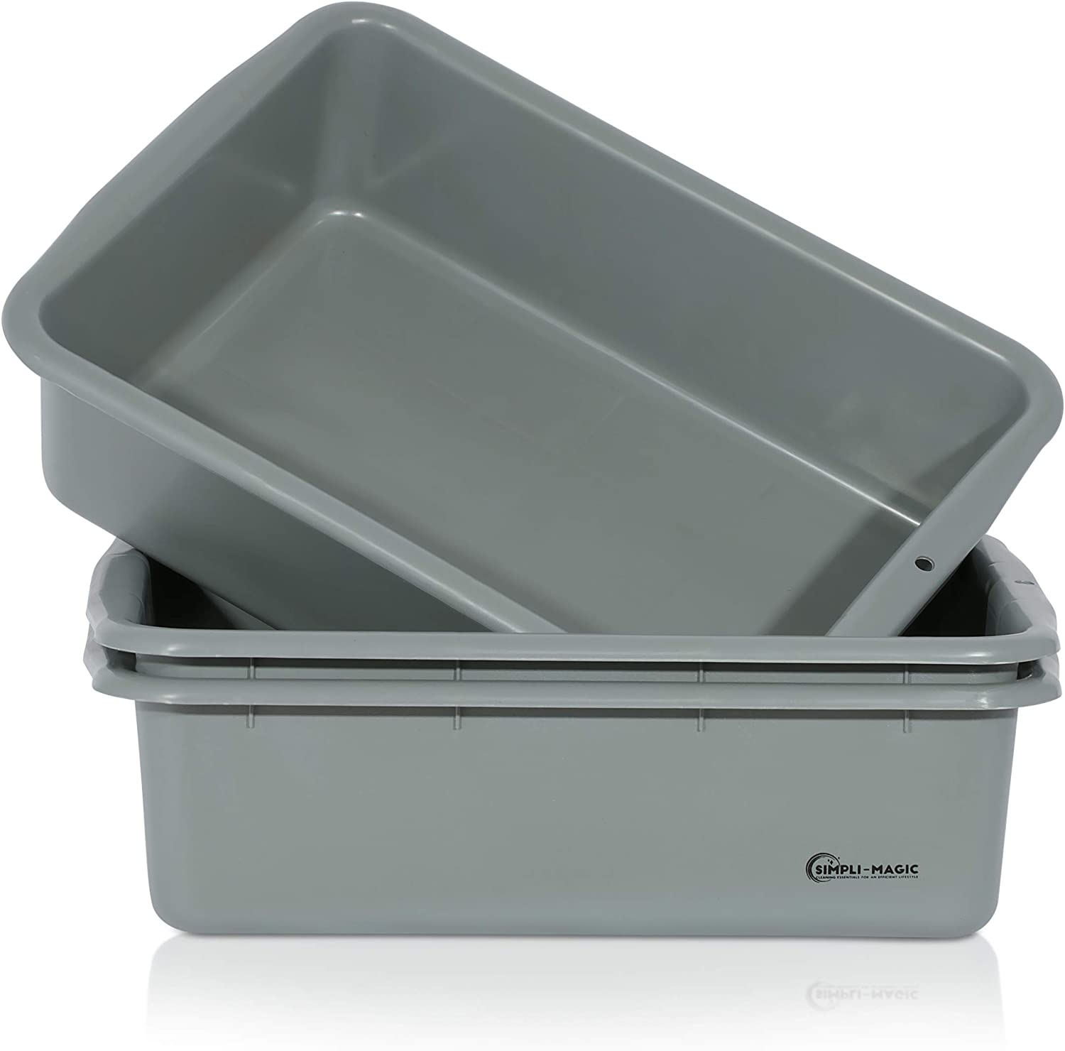 Simpli-Magic 79244 Bus Tubs, Commercial Tote Box (3 Pack), Misc