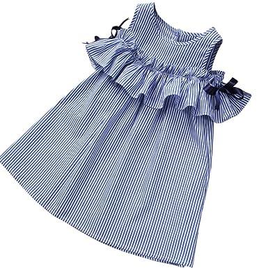 3a7458d2fc9b4 Cutelove 子供ドレス ワンピース 女の子 ストラップレス 半袖 ストライプ 可愛い 夏 赤ちゃん 素敵 おしゃれ ドレス