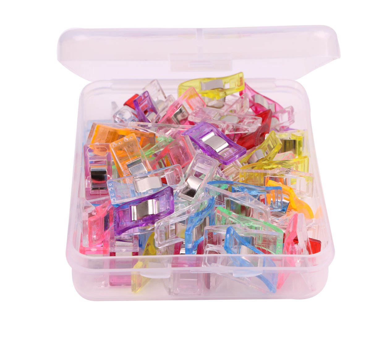 50PCS Multicolor Sewing Clip Set - Colorful Plastic Quilting Crocheting Craft Knit Wonder Clip for Sewing Quilting Crafting Knitting (9 colors) Penta Angel 4336995645