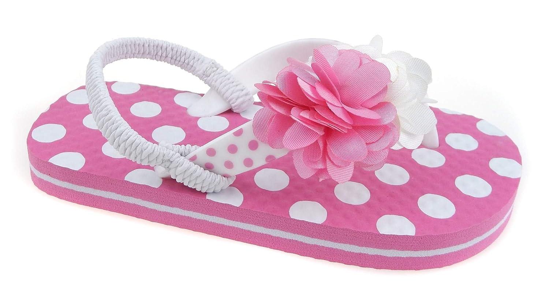 Toddler Beach Sandal Girls Flip Flop Little Girl Pink Shoe Size 5 6 7 8 9 10 5//6, Pink Dot