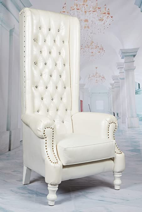 Amazon Com Theodore High Back Wing Throne King Queen