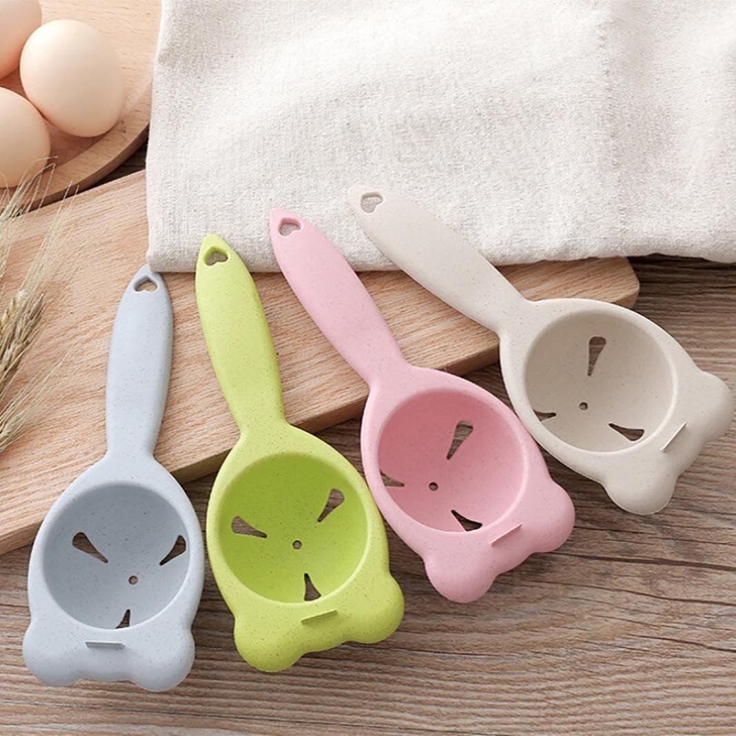 Amazon.com: Hongxin Mini Egg Yolk White Separator With Holder Eco Friendly Wheat Straw Cooking Gadgets Kitchen Accessories Egg Divide Creative Kitchen Tools ...