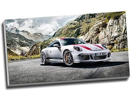 Porsche 911r lienzo de coche deportivo de pared Art Giclée lienzo 30 x 16 Inches (76.2 cm x 40,6 cm): Amazon.es: Hogar