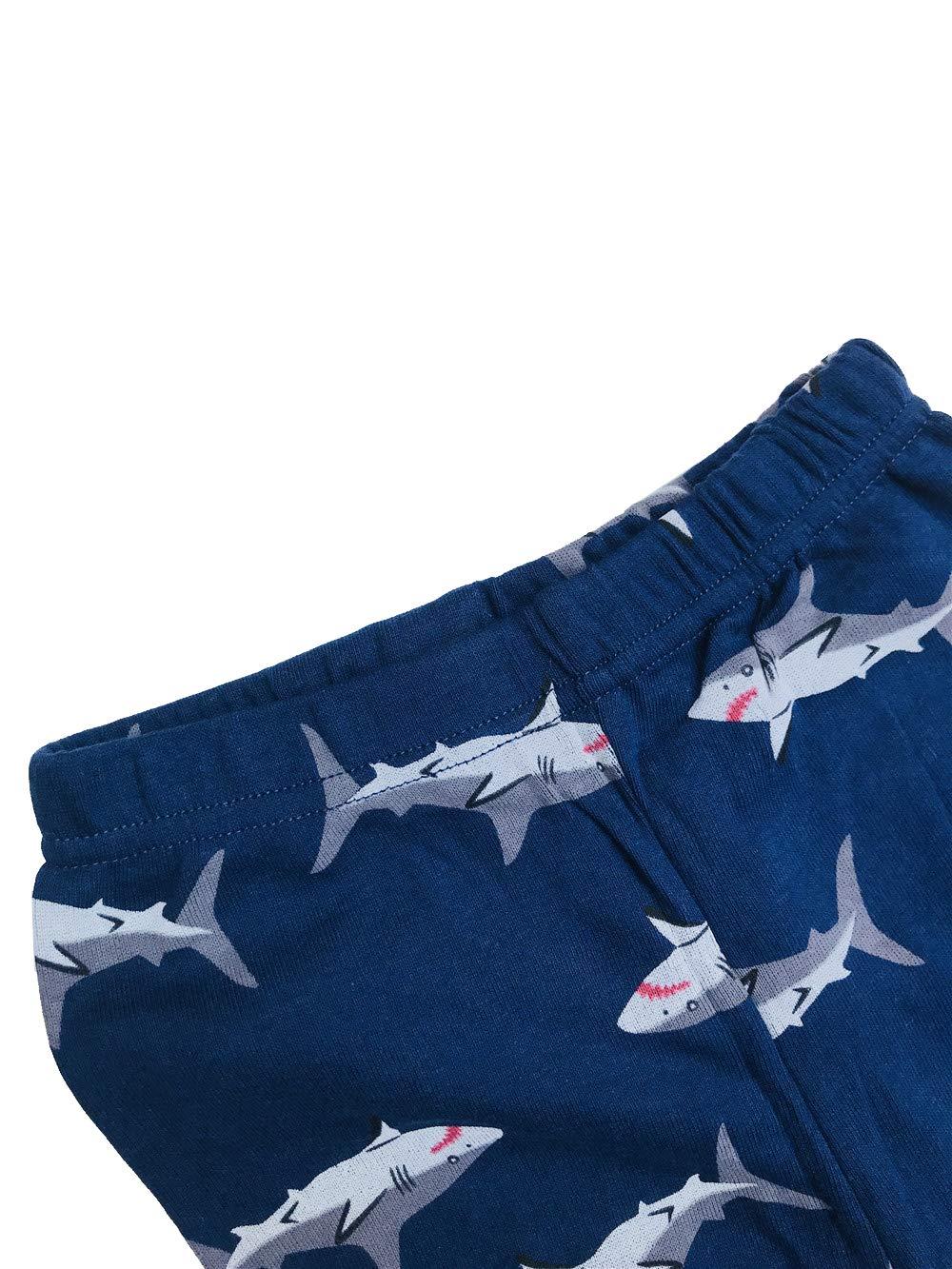 Little Boy Pajamas for Boys Pajamas Kids Shark Nightwear Sleepwear Long Sleeve Pyjamas Pjs Set Size 2-3 Years 3T Christmas Thanksgiving Gifts Chirstmas Thanksgiving Gray
