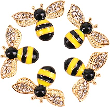 Honey Bee Jewelry Yellow Bee Charm Earrings Gold Bee Earrings Bubble Bee